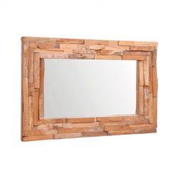 Espelho em Teca Retangular