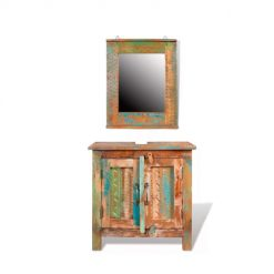 Armário para lavatório Rústico com Espelho