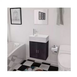 Conjunto para casa de banho preto
