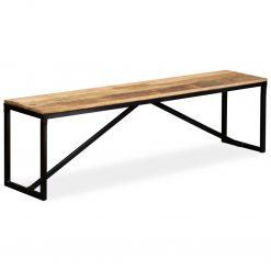 Banco em madeira de mangueira maciça 160x35x45 cm