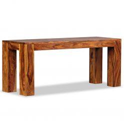 Banco em madeira de sheesham maciça 110x35x45 cm