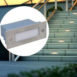 2 LED iluminação embutida de escadas 44 x 111 x 56 mm