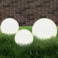 6 pcs conjunto de candeeiros esféricos LED 20/30/40 cm PMMA