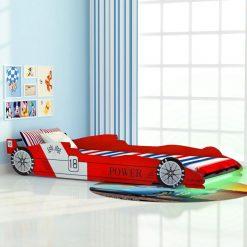 Cama carro de corrida LED para crianças 90x200 cm vermelho - Mobiliário para Crianças