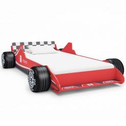 Cama carro de corrida para crianças 90x200 cm vermelho - Mobiliário para Crianças