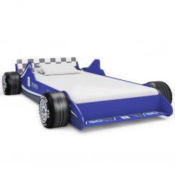 Cama carro de corrida para crianças 90x200 cm azul - Mobiliário para Crianças