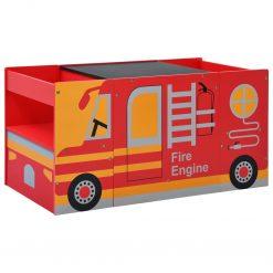 Conjunto mesa e cadeira criança 3 pcs camião bombeiros madeira - Mobiliário para Crianças