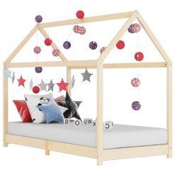 Estrutura de cama p/ crianças 70x140 cm madeira de pinho maciça - Mobiliário para Crianças