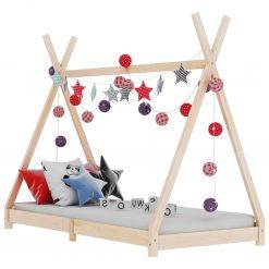 Estrutura de cama para crianças 80x160 cm pinho maciço - Mobiliário para Crianças
