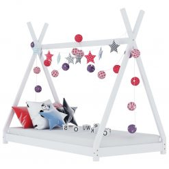 Estrutura de cama para crianças 70x140 cm pinho maciço branco - Mobiliário para Crianças