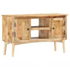 Aparador 100x35x60 cm madeira de mangueira maciça - Aparadores