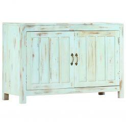 Aparador 110x35x70 cm madeira de mangueira maciça azul-claro - Aparadores