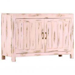 Aparador 110x35x70 cm madeira de mangueira maciça rosa-claro - Aparadores
