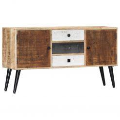 Aparador 118x30x62 cm madeira de mangueira maciça - Aparadores