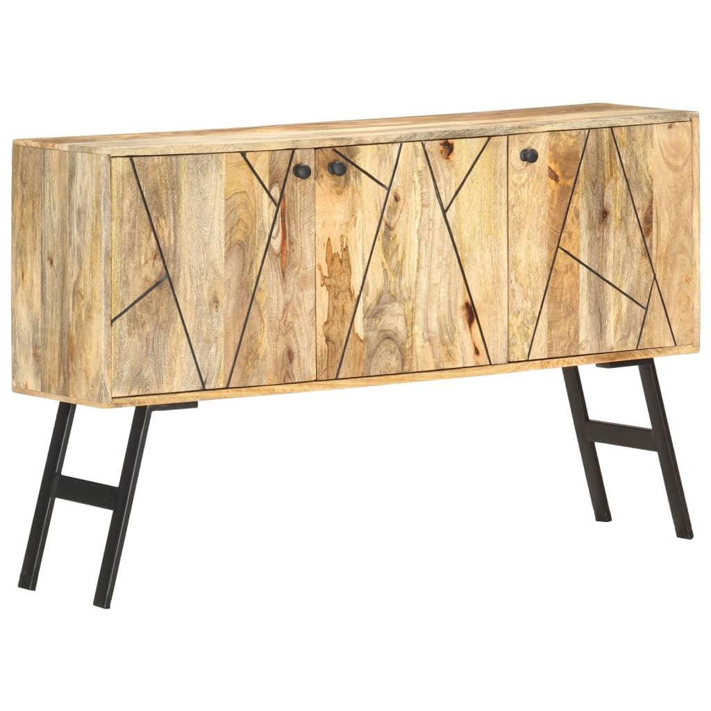 Aparador 118x30x75 cm madeira de mangueira maciça - Aparadores