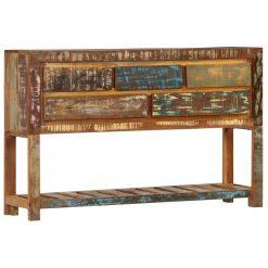 Aparador 120x30x75 cm madeira recuperada maciça - Aparadores