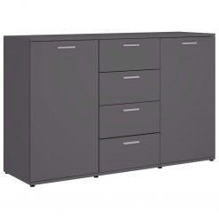 5x75 cm contraplacado cinzento brilhante - Aparadores