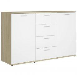 5x75cm contraplacado cor branco/carvalho sonoma - Aparadores