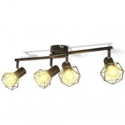 Apliques de arame estilo industrial com 4 LED