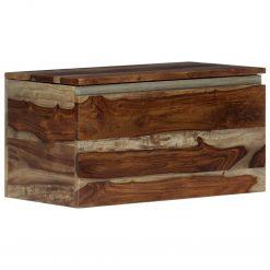 Arca de arrumação 30x30x57 cm madeira de sheesham maciça - Baús