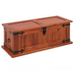 Arca de arrumação 60x25x22 cm madeira de acácia maciça - Baús