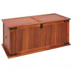 Arca de arrumação 79x34x32 cm madeira de acácia maciça - Baús