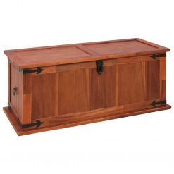 Arca de arrumação 90x45x40 cm madeira de acácia maciça - Baús