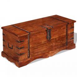 Arca de arrumação em madeira maciça - Baús