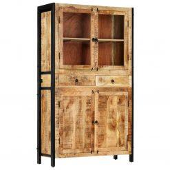 Armário alto 100x40x175 cm madeira de mangueira maciça - Armários e Cristaleiras