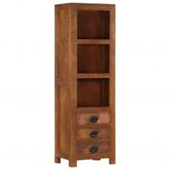 Armário alto c/ 3 gavetas 40x30x130 cm madeira mangueira maciça - Armários e Cristaleiras