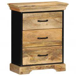 Armário de gavetas 60x30x75 cm madeira de mangueira maciça - Cómodas