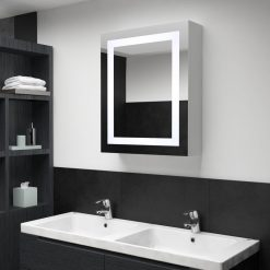 Armário espelhado para casa de banho com LED 50x13x70 cm - Armários Casa de Banho