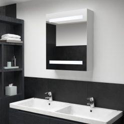 Armário espelhado para casa de banho com LED 50x14x60 cm - Armários Casa de Banho