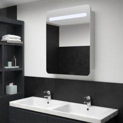 Armário espelhado para casa de banho com LED 60x11x80 cm - Armários Casa de Banho