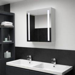 Armário espelhado para casa de banho com LED 62x14x60 cm - Armários Casa de Banho
