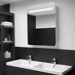 Armário espelhado para casa de banho com LED 68x11x80 cm - Armários Casa de Banho