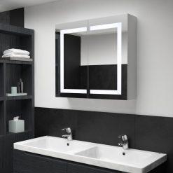 Armário espelhado para casa de banho com LED 80x12