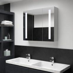 Armário espelhado para casa de banho com LED 89x14x62 cm - Armários Casa de Banho