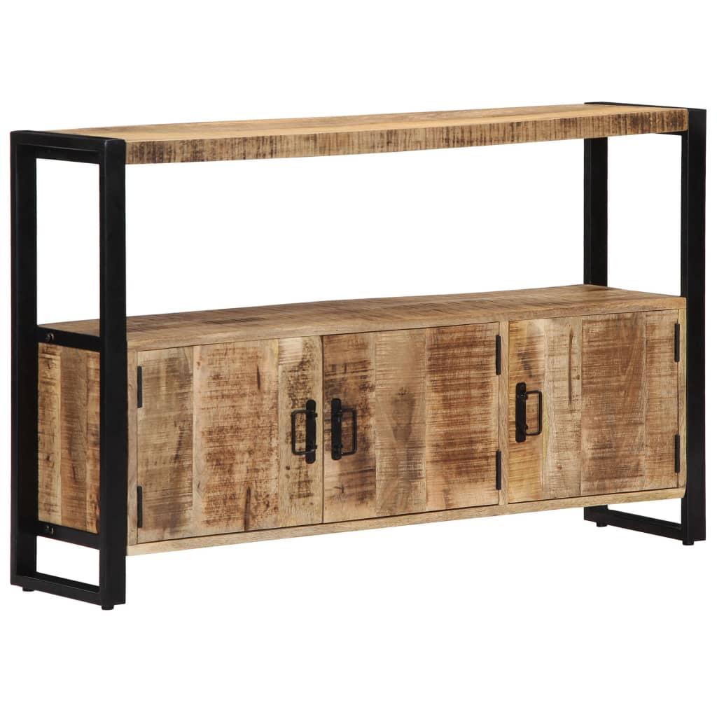 Armário lateral 120x30x75 cm madeira de mangueira maciça - Aparadores