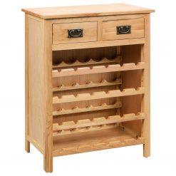 Armário para vinhos 72x32x90 cm madeira carvalho maciça - Garrafeiras