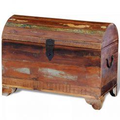 Baú de armazenamento de madeira antiga recuperada - Baús