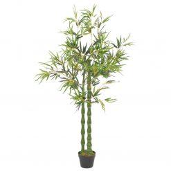 Bambu artificial com vaso verde 160 cm - Plantas Artificiais