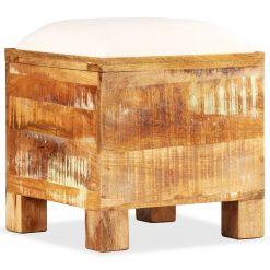 Banco de arrumação em madeira reciclada maciça 40x40x45 cm - Baús