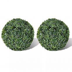 Bola de buxo topiária folhas artificiais 27 cm 2 pcs - Plantas Artificiais