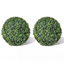 Bola de buxo topiária folhas artificiais 35 cm 2 pcs - Plantas Artificiais