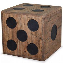 Caixa de arrumação madeira mindi 40x40x40 cm design de dado - Baús