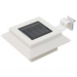 Candeeiro de exterior solar LED 12 pcs branco quadrado 12 cm