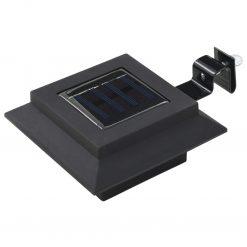 Candeeiro de exterior solar LED 12 pcs preto quadrado 12 cm