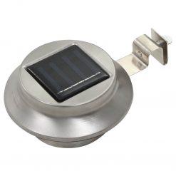 Candeeiro de exterior solar LED 6 pcs branco redondo 12 cm