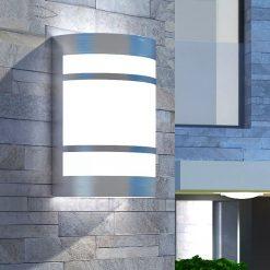 Candeeiro de parede exterior aço inoxidável